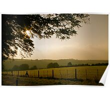 Dusk in the English Countryside Poster