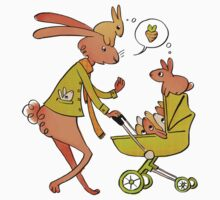 Incorrigibly Fatherly Rabbit Kids Clothes