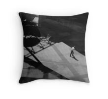 The lone office worker... Throw Pillow