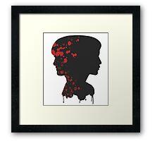 katniss & peeta Framed Print