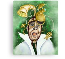 Never Startle A Mad Scientist Canvas Print