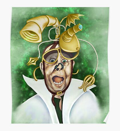 Never Startle A Mad Scientist Poster