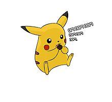 Pikachu Nom Photographic Print