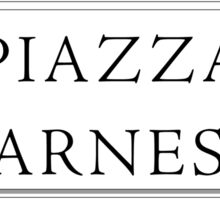 Piazza Farnese, Rome Street Sign, Italy Sticker
