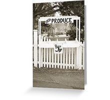 Vintage Produce Stand Greeting Card