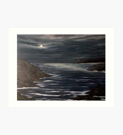 Moonlit ocean  Art Print