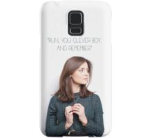 "Doctor Who - Run, you clever boy. And remember."" Samsung Galaxy Case/Skin"