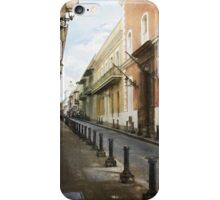 On the streets of San Juan iPhone Case/Skin