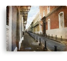 On the streets of San Juan Canvas Print