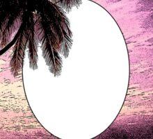 Palm tree ink pattern Sticker