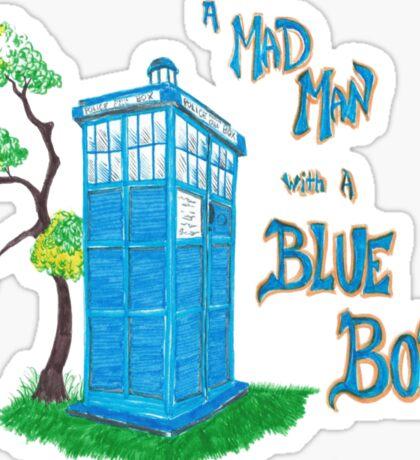 Mad Man with a Blue Box Sticker