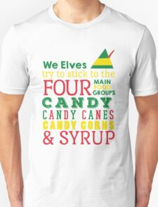 Candy, Candy Canes, Candy Corn, & Syrup Unisex T-Shirt