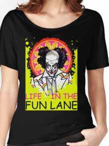 binky the clown lives in the FUN LANE Women's Relaxed Fit T-Shirt