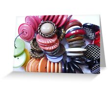 COLOURED BUTTONS Greeting Card