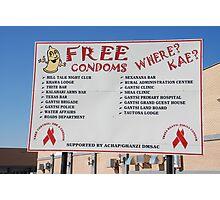 Billboard, Ghanzi, Botswana Photographic Print
