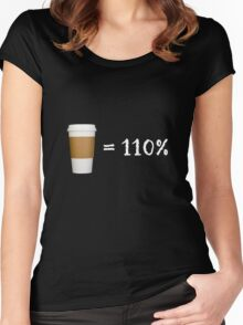 coffee = 110% Women's Fitted Scoop T-Shirt