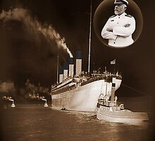 ☝ ☞ EJ SMITH CAPTAIN OF THE TITANIC IPAD CASE-Titanic leaving Belfast with two guiding tugs ☝ ☞ by ✿✿ Bonita ✿✿ ђєℓℓσ