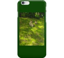 Playful monkeys fighting  iPhone Case/Skin