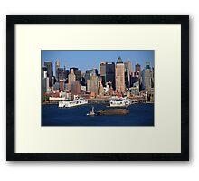 New York City Docks on the Hudson Framed Print