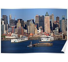 New York City Docks on the Hudson Poster