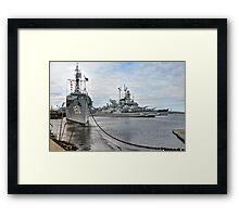 Battleship Cove (HDR) Framed Print