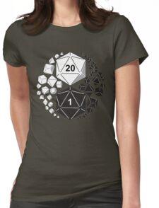 Gaming Yin Yang Womens Fitted T-Shirt