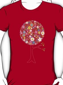 Whimsical Colorful Spring Flowers Pop Tree T-Shirt