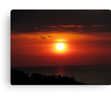Manuel Antonio Sunset Canvas Print