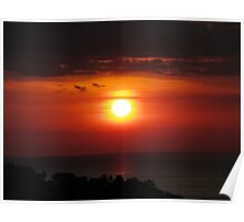 Manuel Antonio Sunset Poster