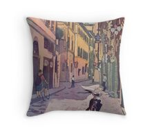 Waiting Bike Throw Pillow