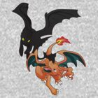 Toothless VS Charizard by emodist
