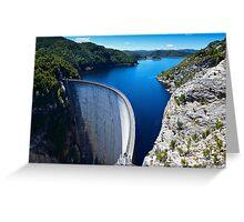 Gordon River Dam Greeting Card