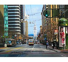 End of Market and the Ferry Building Photographic Print