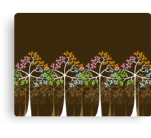 Four Seasons Trees Canvas Print