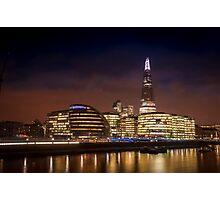 The Shard at night, London. Photographic Print