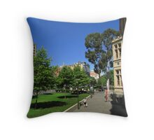 The Cultural Walk! North Terrace from the East End. Adelaide..  Throw Pillow