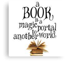 Book is a magic portal Canvas Print