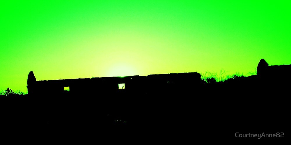 Sunset at the Abandoned Farm House by CourtneyAnne82