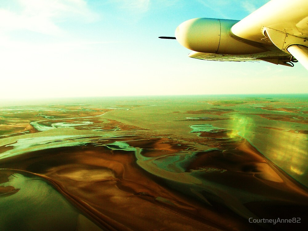 Airborne over Tidal Flats, Derby, WA by CourtneyAnne82