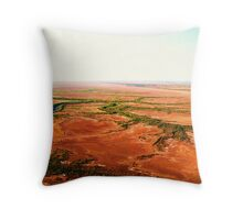 Tides out - dry again Throw Pillow