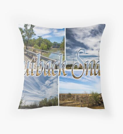 post card from the outback Throw Pillow