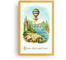 French Hot Air Balloon Metal Print