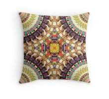 Abstract Colorful Mandala Throw Pillow
