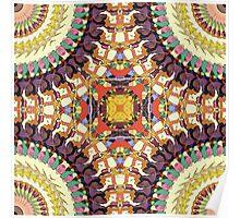 Abstract Colorful Mandala Poster