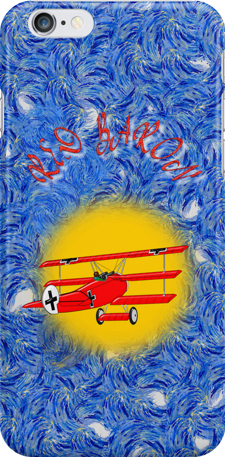 The Red Baron WW1 Fighter Ace iPhone case by Dennis Melling