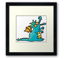 Teal Magic Dragon Framed Print