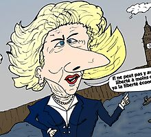Margaret THATCHER caricature by Binary-Options