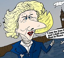 Posthumourous Maggie Thatcher caricature by Binary-Options