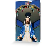 Mary Statue at Last All Christian Village in Holy Land Greeting Card