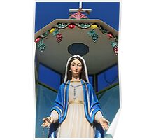 Mary Statue at Last All Christian Village in Holy Land Poster